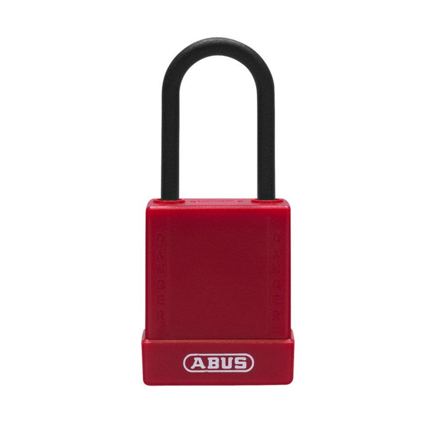 Aluminium veiligheidshangslot met bruine cover 84816
