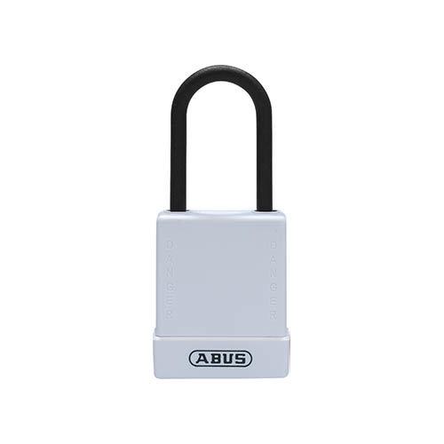 Aluminium veiligheidshangslot met witte cover 76PS/40 wit