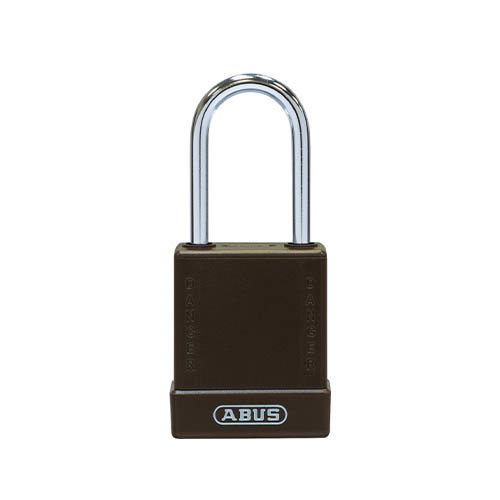 Aluminium veiligheidshangslot met bruine cover 76BS/40 bruin