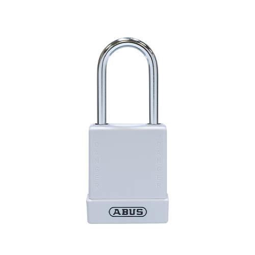 Aluminium veiligheidshangslot met witte cover 76BS/40 wit