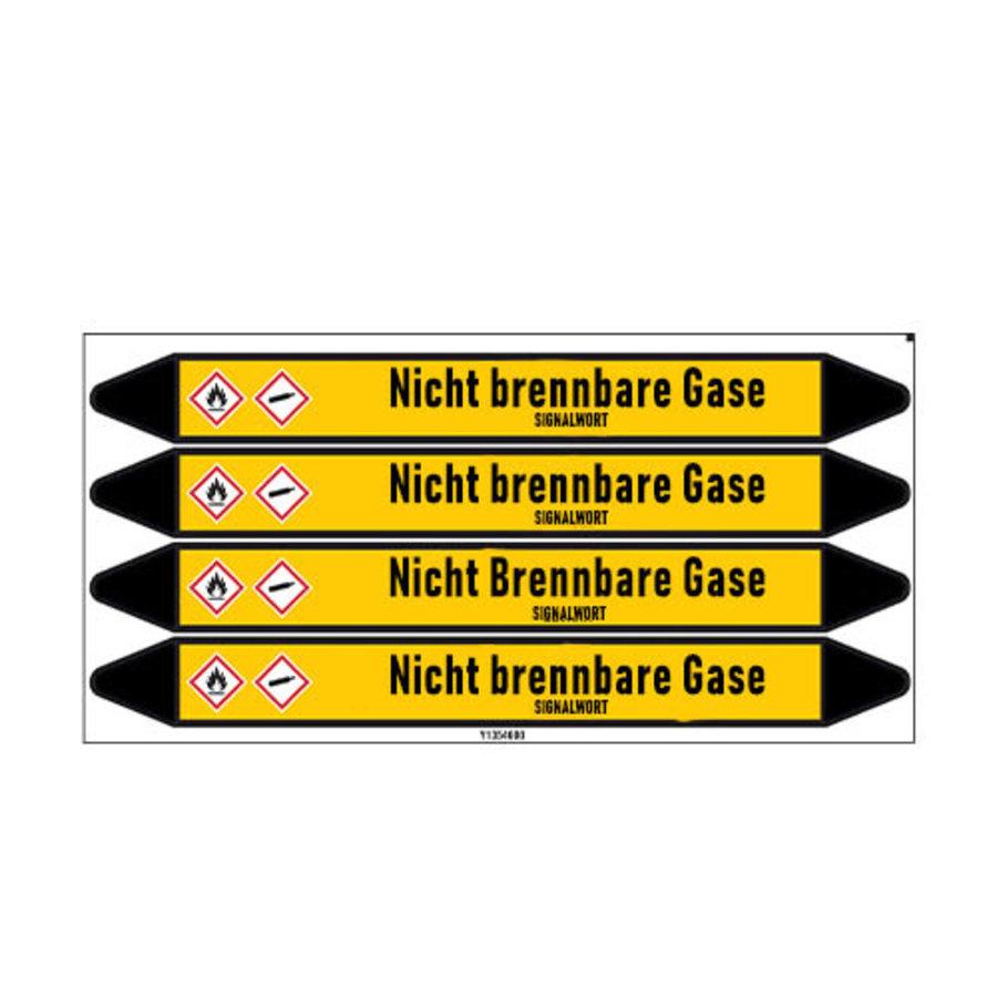 Leidingmerkers: N2   Duits   Niet brandbare gassen