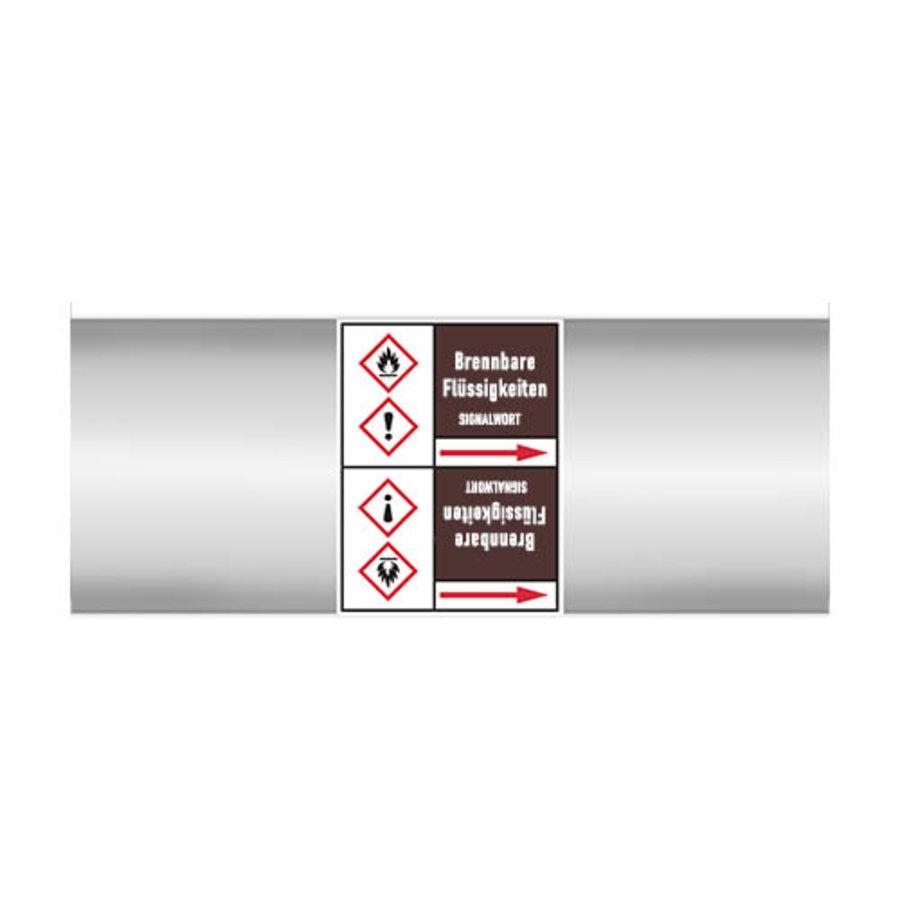 Leidingmerkers: Aceton   Duits   Ontvlambare vloeistoffen