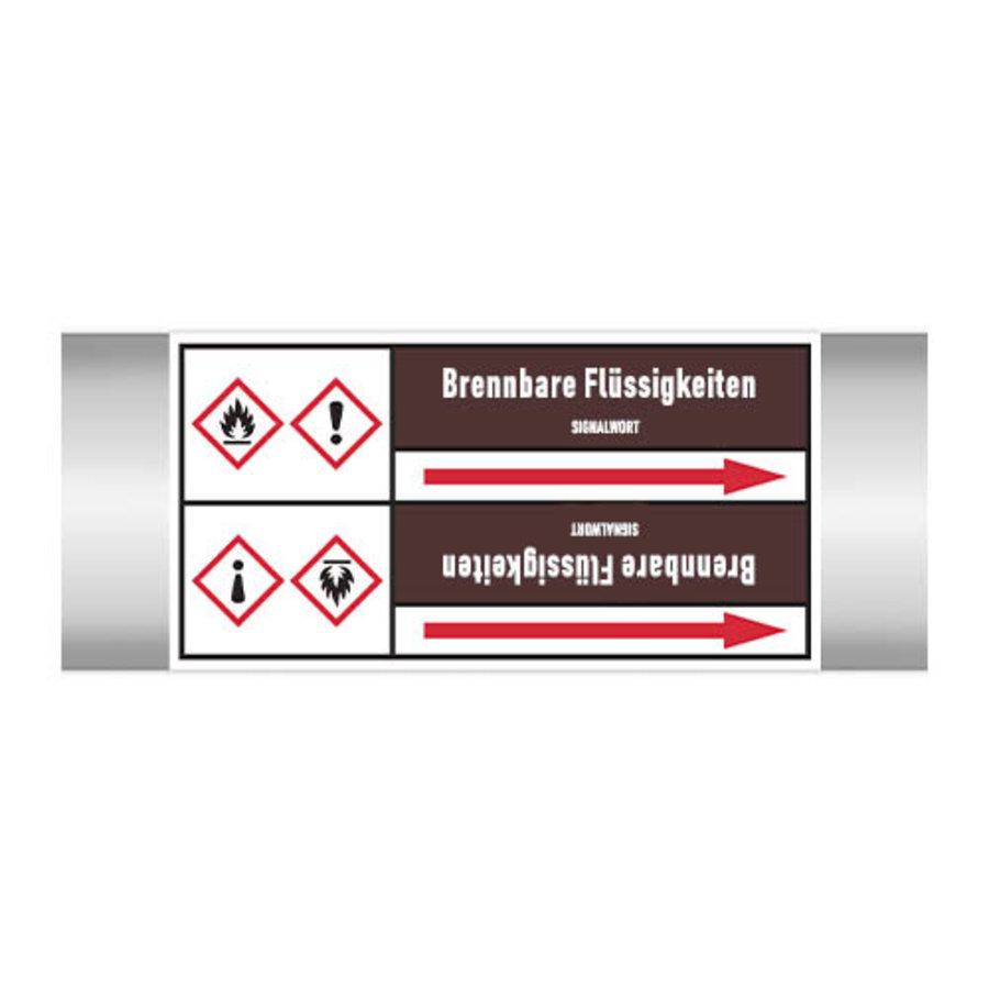 Leidingmerkers: Alkohol   Duits   Ontvlambare vloeistoffen
