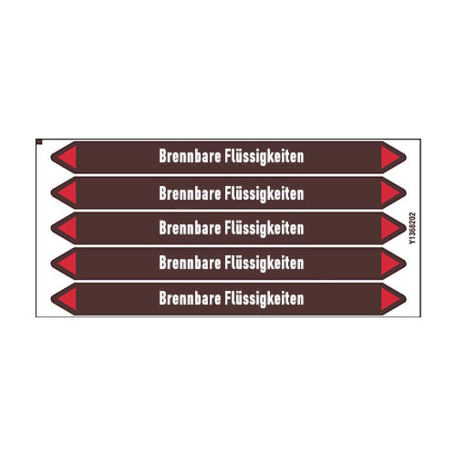Rohrmarkierer: Benzin bleifrei | Deutsch | Brennbare Flüssigkeiten
