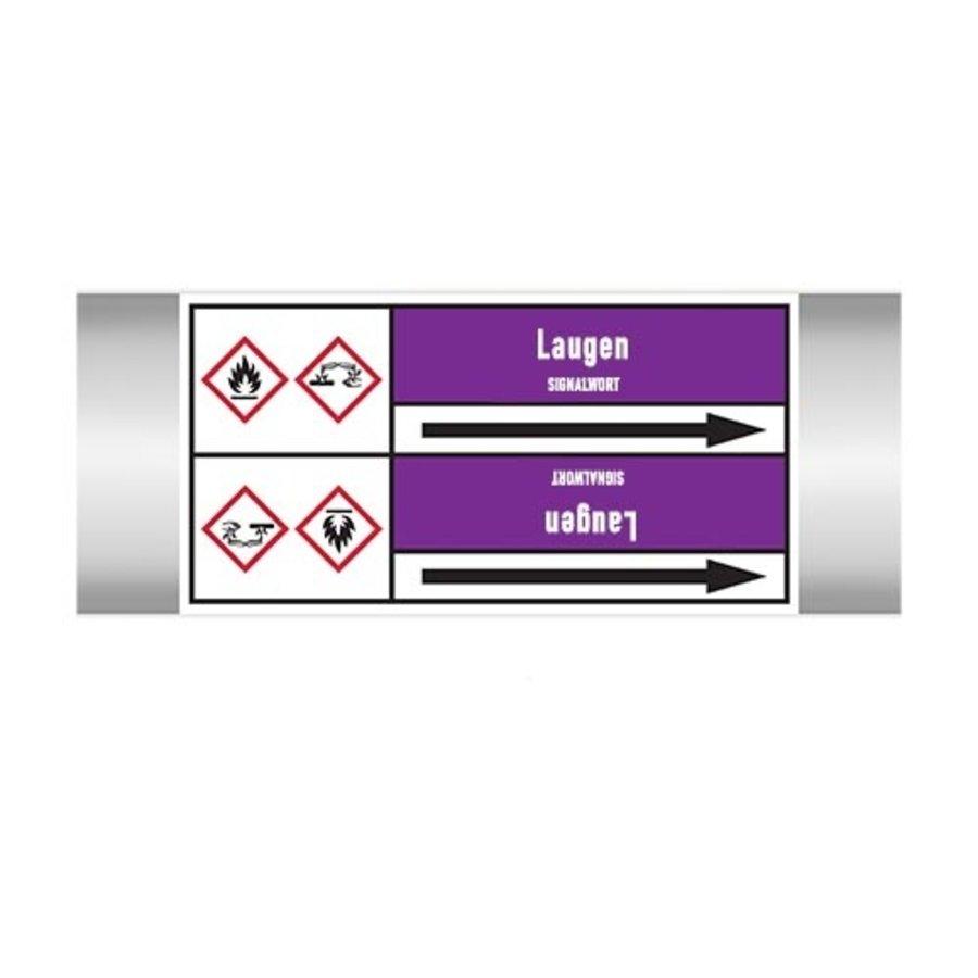 Leidingmerkers: Ammoniak flüssig | Duits | Basen