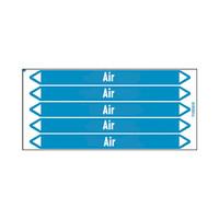 Leidingmerkers: Air 3 bars | Engels | Lucht