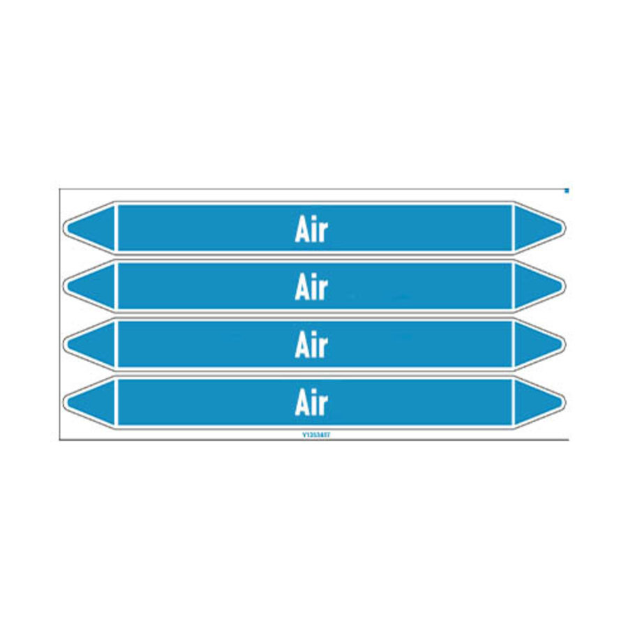 Leidingmerkers: Compressed air 1.5 bar | Engels | Lucht