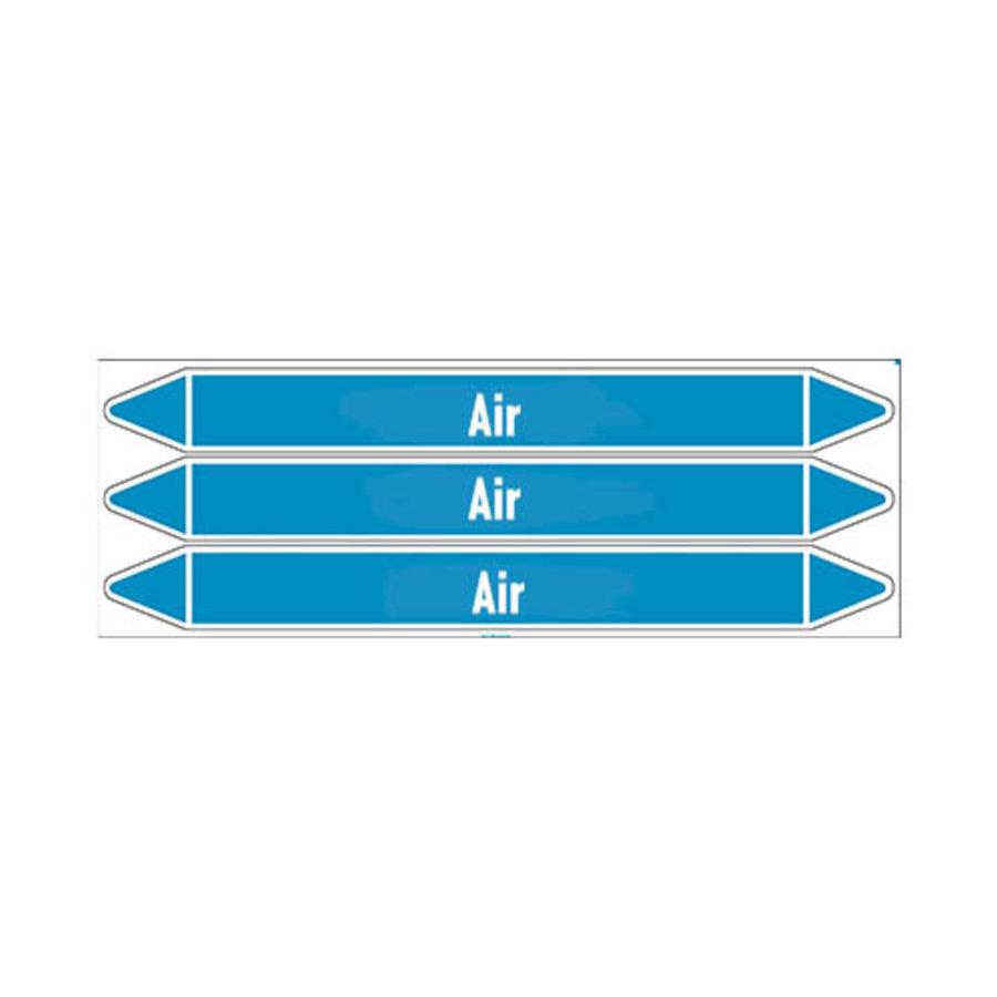 Leidingmerkers: Compressed air 3.5 bar | Engels | Lucht