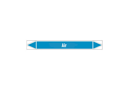 Leidingmerkers: Compressed air 6 bar | Engels | Lucht