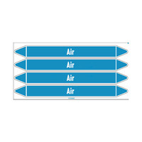 Leidingmerkers: Conditioning air | Engels | Lucht