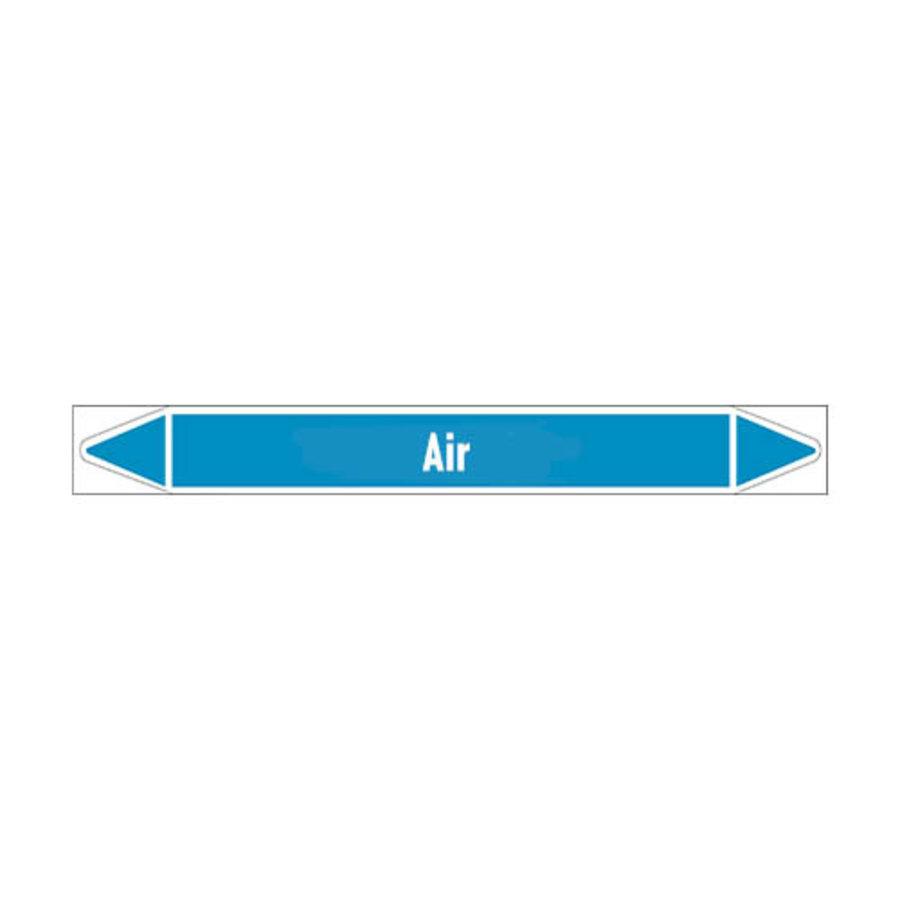 Leidingmerkers: Drying air | Engels | Lucht