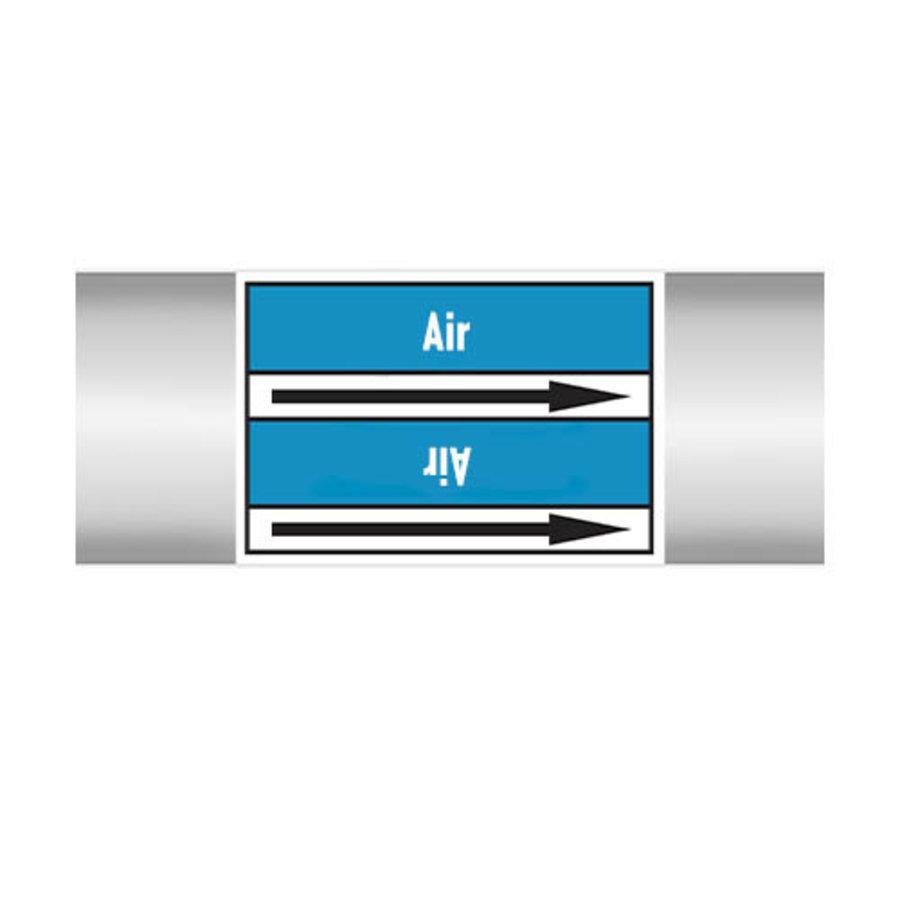 Leidingmerkers: Extracted air   Engels   Lucht