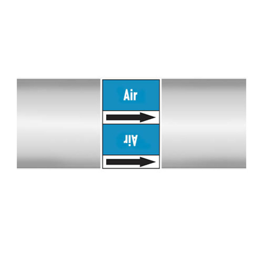 Rohrmarkierer: Extracted air   Englisch   Luft