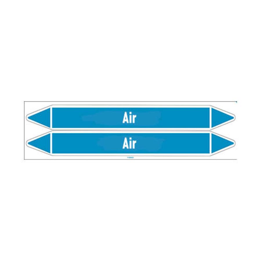 Leidingmerkers: Hot air | Engels | Lucht