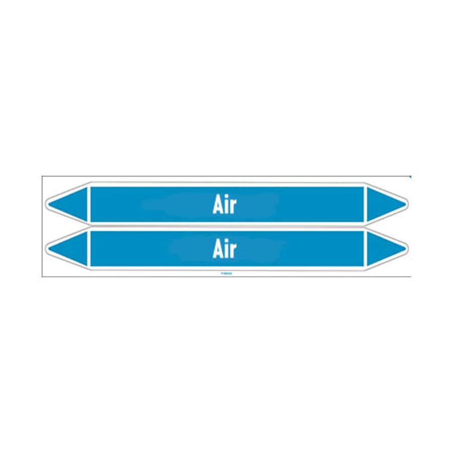 Leidingmerkers: Instrument air | Engels | Lucht