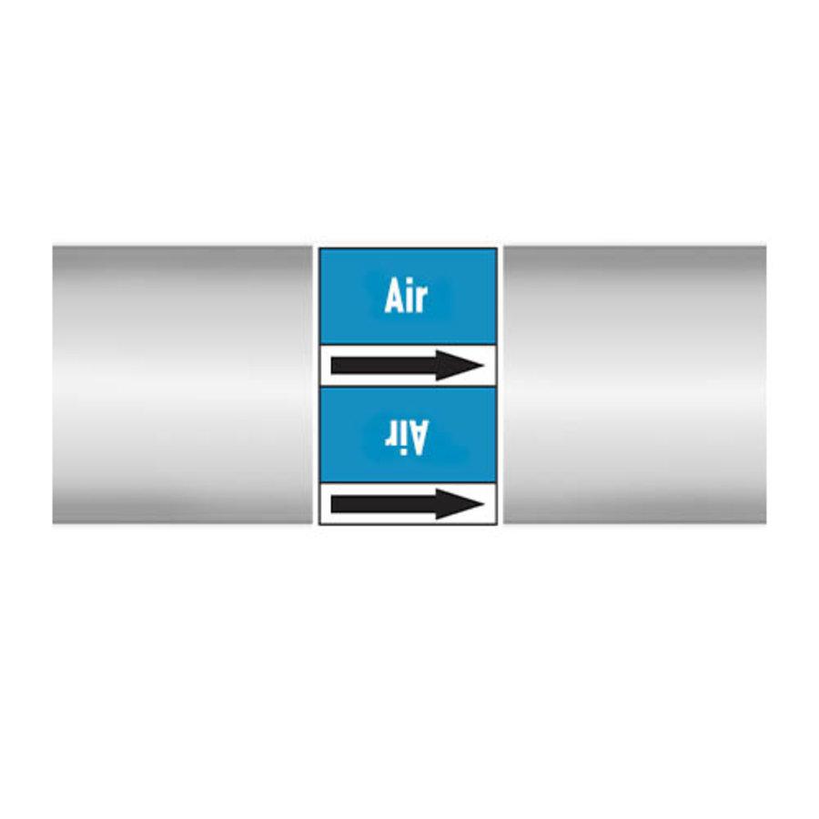 Leidingmerkers: New air | Engels | Lucht