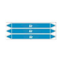 Leidingmerkers: Primary ventilation | Engels | Lucht