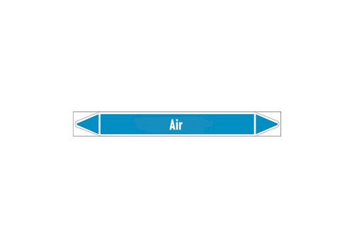 Leidingmerkers: Purified air   Engels   Lucht