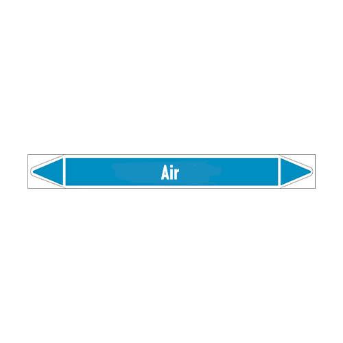 Leidingmerkers: Sterile compressed air | Engels | Lucht