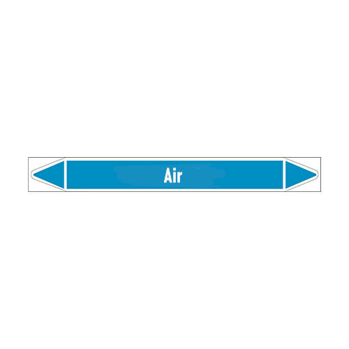 Leidingmerkers: Treated air | Engels | Lucht