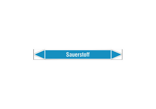 Pipe markers: Ozon   German   Sauerstoff