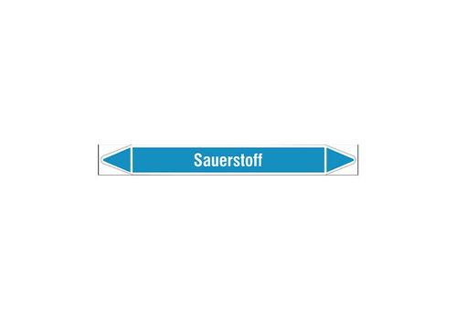Pipe markers: Sauerstoff   German   Sauerstoff