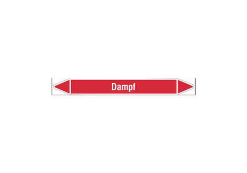 Pipe markers: Dampf   German   Fire Fighting