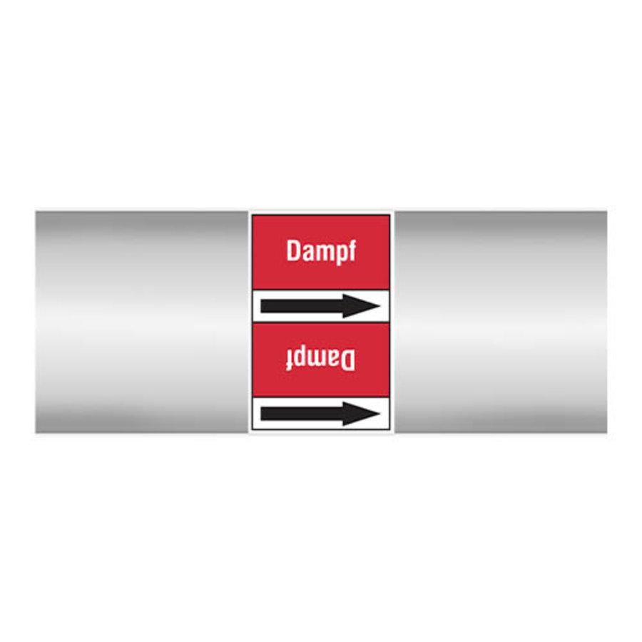 Leidingmerkers: Dampf 0,5 bar | Duits | Stoom