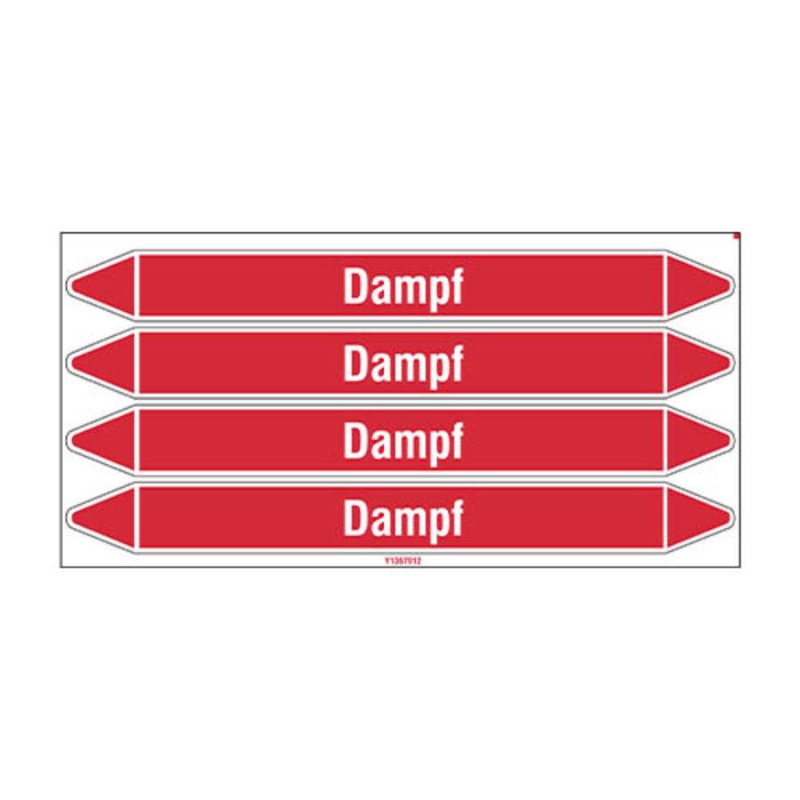 Leidingmerkers: Dampf 1,5 bar | Duits | Stoom