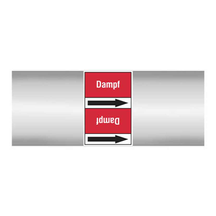 Leidingmerkers: Dampf 2,8 bar   Duits   Stoom