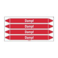 Leidingmerkers: Dampf 3 bar | Duits | Stoom