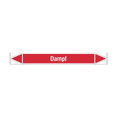 Leidingmerkers: Dampf 5,5 bar | Duits | Stoom
