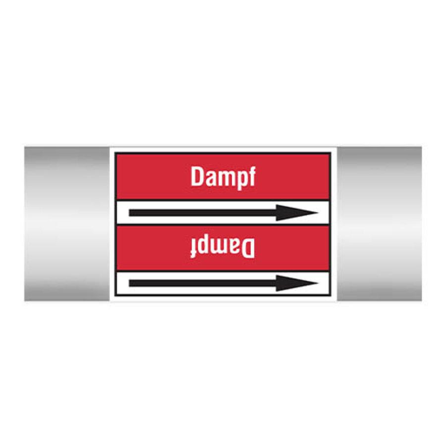 Leidingmerkers: Dampf 5,5 bar   Duits   Stoom