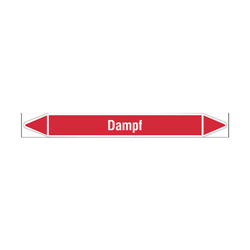 Leidingmerkers: Dampf 8 bar | Duits | Stoom