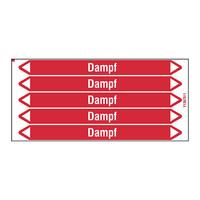 Leidingmerkers: Dampf 8 bar   Duits   Stoom