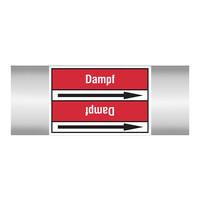 Leidingmerkers: Heizdampf | Duits | Stoom