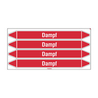 Leidingmerkers: MD Dampf | Duits | Stoom