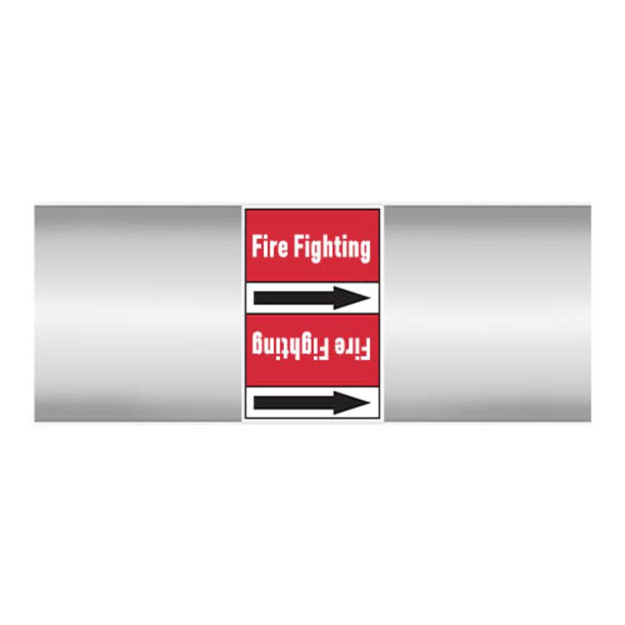 Leidingmerkers: Fire protection water | Engels | Blusleiding