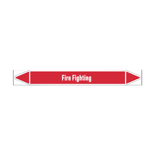 Rohrmarkierer: Fire protection water | Englisch | Dampf