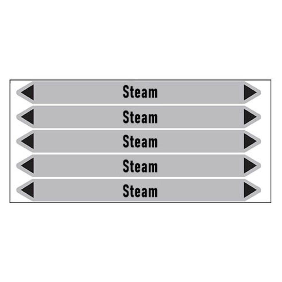 Leidingmerkers: Overheated steam | Engels | Stoom