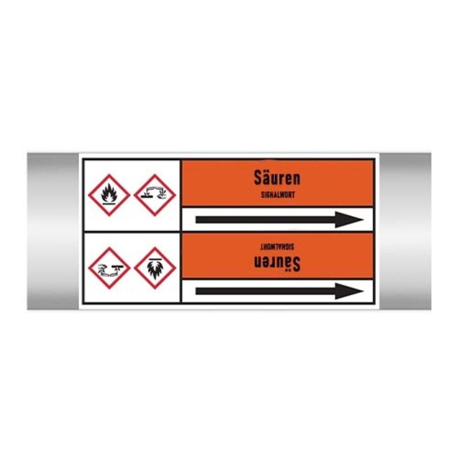 Leidingmerkers: H2S-Kondensat | Duits | Zuren