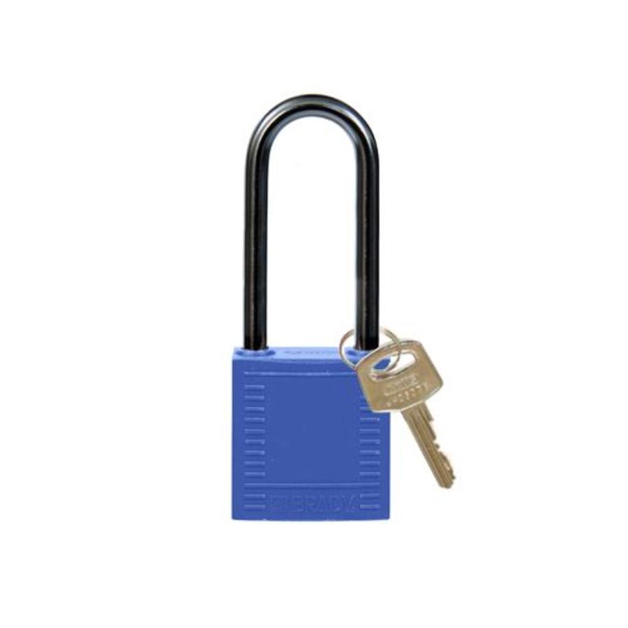 Nylon compact veiligheidshangslot blauw 814134