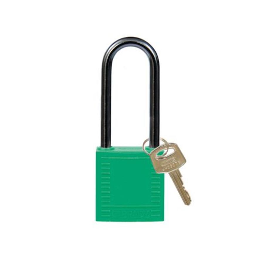 Nylon compact veiligheidshangslot groen 814138