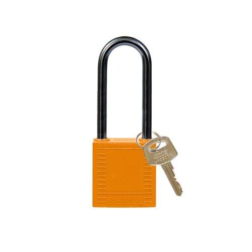 Nylon compact veiligheidshangslot oranje 814139