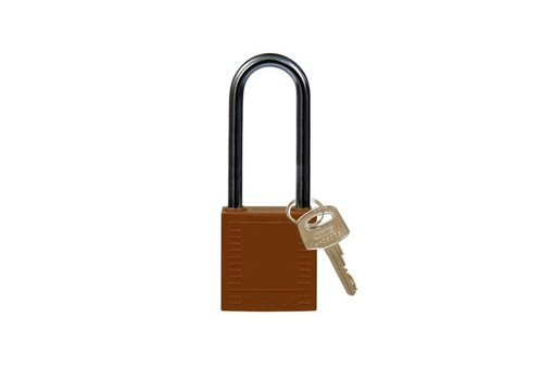Nylon compact safety padlock brown 814140