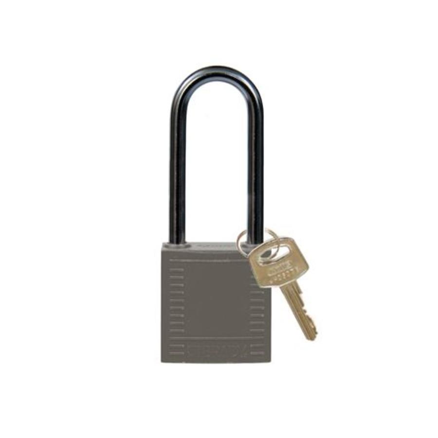 Nylon compact safety padlock gray 814143
