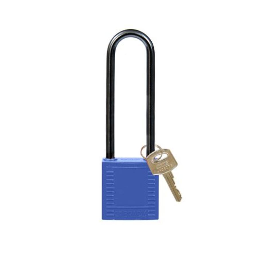 Nylon compact safety padlock blue 814144