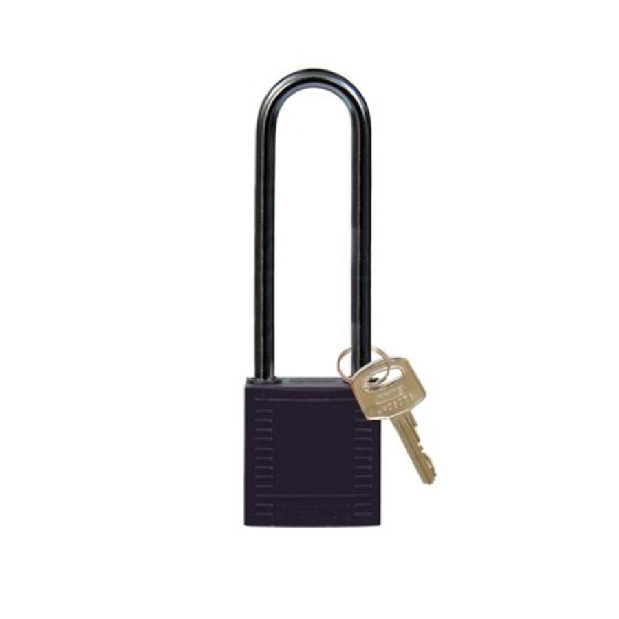 Nylon compact veiligheidshangslot zwart 814145
