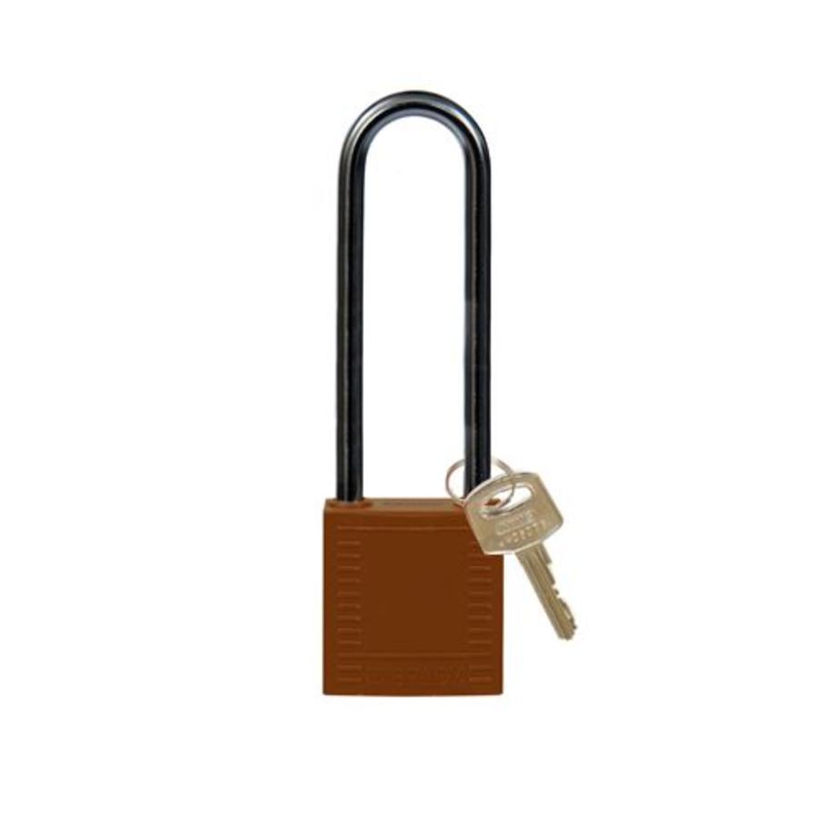 Nylon Kompakte Sicherheits-vorhängeschloss braun 8141250