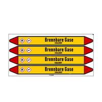 Leidingmerkers: Erdgas MD | Duits | Brandbare gassen